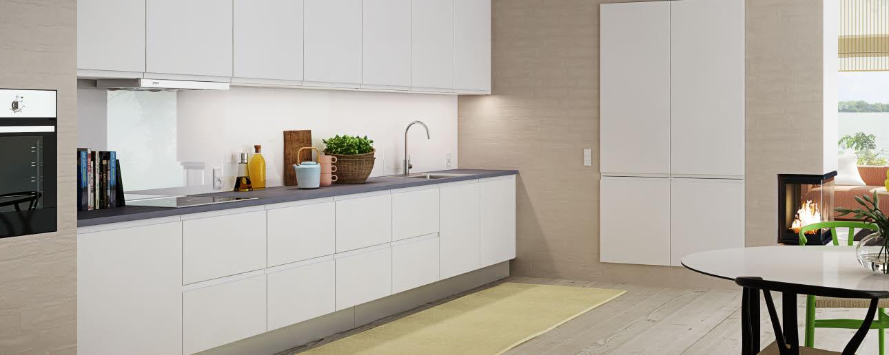 Moderni ja minimalistinen keittiö  Next HTH lta  HT