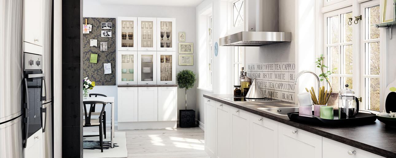 Klassinen valkea keittiö  Shaker White  HTH